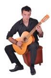 Flamenco guitar player Stock Images