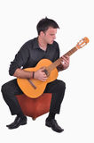 Flamenco guitar player Stock Photo