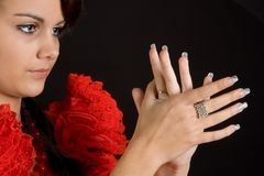 Flamenco hands Stock Photography