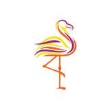 Flamenco Logo Template Imagenes de archivo
