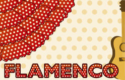 Flamenco music party card, vector Royalty Free Stock Image