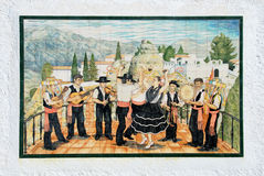 Flamenco and musicians picture, Comares. Royalty Free Stock Photography