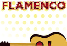 Flamenco party  card Royalty Free Stock Photography