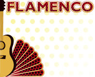 Flamenco party music card. Vector illustration Royalty Free Stock Photography