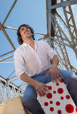 Flamenco percussionist Stock Images