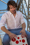 Flamenco percussionist Stock Photos