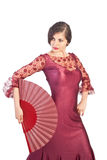 Flamenco pose Royalty Free Stock Images