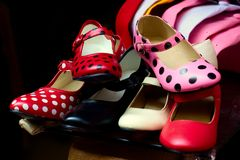 Flamenco shoes Stock Images