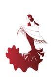 Flamenco silhouettes Royalty Free Stock Photo
