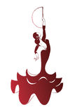 Flamenco silhouettes Royalty Free Stock Images