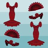 Flamenco style background, vector royalty free stock images