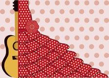 Flamenco style card, vector Stock Photo