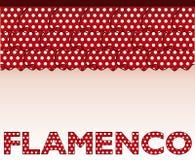 Flamenco stylu karta, wektor ilustracja wektor