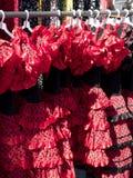 Flamenco suknie Fotografia Royalty Free