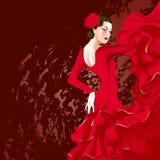 Flamenco tancerz royalty ilustracja