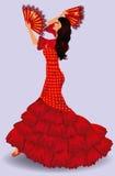 Flamenco tancerz. hiszpańska dziewczyna. Zdjęcie Stock