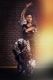 Flamenco tancerz w ruchu Obraz Royalty Free