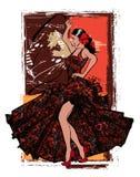 Flamenco tancerza hiszpańska kobieta royalty ilustracja