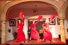 Flamenco tancerze Zdjęcia Royalty Free