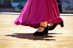 Flamenco tancerzy nogi Obrazy Royalty Free