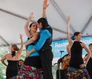 Flamenco Tancerzy Wielokulturowy Festiwal Fotografia Royalty Free
