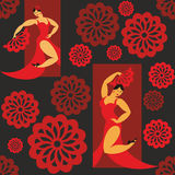 Flamenco tancerzy wzór Obrazy Royalty Free