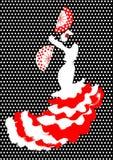 Flamenco taniec, sylwetki Hiszpańska kobieta, odizolowywająca Zdjęcia Royalty Free