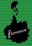Flamenco taniec, sylwetki Hiszpańska kobieta, Obrazy Royalty Free
