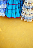 Flamenco typical dresses, Fair in Seville, Andalusia, Spain Stock Images