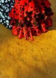 Flamenco ubiera, Seville jarmark, Andalusia, Hiszpania Zdjęcie Royalty Free