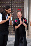 Flamenco w ulicie 17 Zdjęcia Royalty Free
