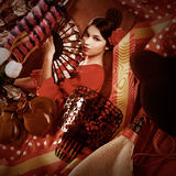 Flamenco woman with bullfighter and typical Spain Espana Royalty Free Stock Photo