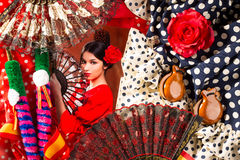 Flamenco woman with bullfighter and typical Spain Espana Stock Photography