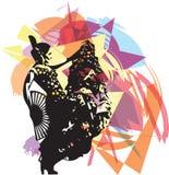 Flamenco woman dancer Royalty Free Stock Images