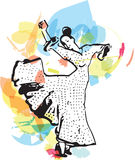 Flamenco woman dancer Stock Image