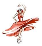 Flamencodans vector illustratie