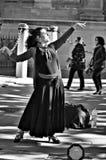 Flamencodansare i gatan 44 arkivbilder