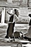 Flamencodansare i gatan 72 royaltyfri foto