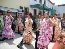 Flamencodansare i traditionella klänningar Royaltyfri Bild