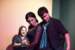Flamencodansare som utför hennes show, Seville fotografering för bildbyråer