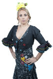 FlamencodansareSpain kvinna arkivfoton