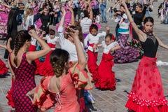 Flamencodansfestival Spanien Arkivbilder
