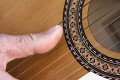 Flamencogitarre Stockfoto