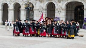 Flamencogruppe Lizenzfreie Stockfotos