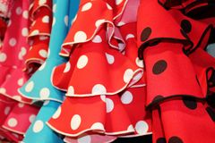 Flamencoklänning Spanien Fotografering för Bildbyråer