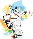 Flamencokvinnadansare royaltyfri illustrationer