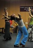 Flamencolärare Miguel Vargas på flamencokonstmitten 'La Merced 'i Cadiz fotografering för bildbyråer