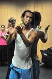 Flamencolärare Miguel Vargas på flamencokonstmitten 'La Merced 'i Cadiz royaltyfria bilder