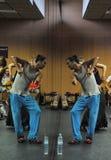 Flamencolehrer Miguel Vargas in der Flamencokunstmitte 'La Merced 'in Cadiz stockfotos