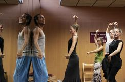 Flamencolehrer Miguel Vargas in der Flamencokunstmitte 'La Merced 'in Cadiz stockfoto